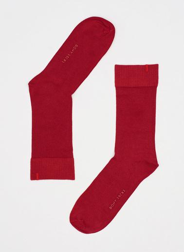 Katia & Bony Harold Bambu Erkek Soket Çorap  Bordo